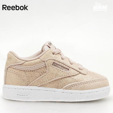 Reebok Club - Basket enfants du 19 au 27 - rose paillette