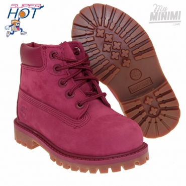 Timberland 6 Inch Premium Boot - Chaussures enfant du 22 au 30 - Rouge