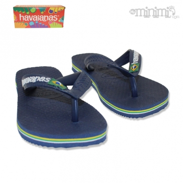 Photo Tongs Havaianas enfant - du 25/26 au 35/36 - Bleu, vert, jaune et blanc