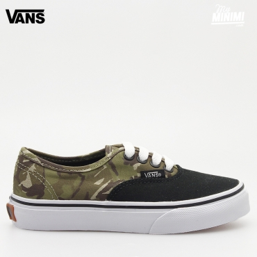 Vans Authentic 2 Tone Camo - baskets enfant du 27 au 35 - Noir et camo