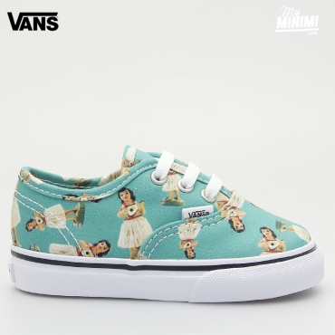 Vans Authentic Digi Ula - Baskets enfant du 19 au 26 - Turquoise