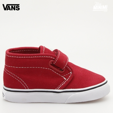 Vans Chukka V - basket enfant à scratch du 19 au 26 - Rouge Chili Pepper