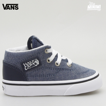 Vans Half Cab Chambray - baskets enfants du 19 au 26 - Bleu