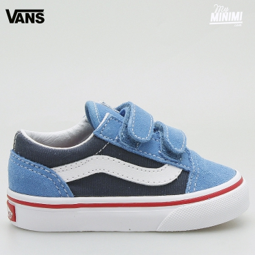 Vans OLD SKOOL V bleu - baskets enfants