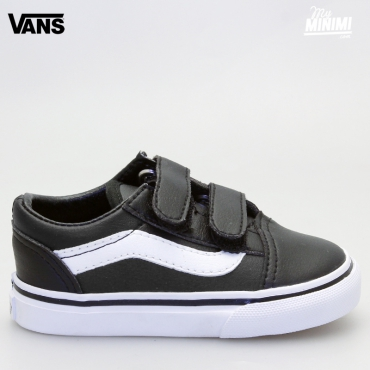 Vans OLD SKOOL V - baskets enfants du 20 au 26 - Cuir noir
