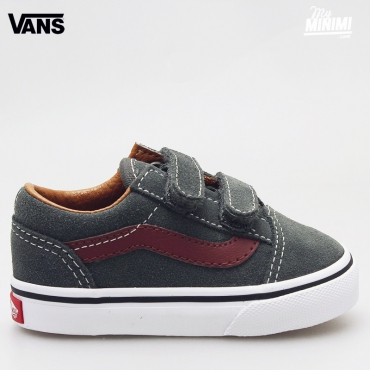 Vans OLD SKOOL V - baskets enfants du 20 au 26 - Daim gris