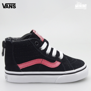 Vans SK8-HI ZIP MTE - baskets enfants du 19 au 26 - noir et rose metallic