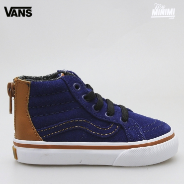 Vans SK8-HI ZIP MTE 66 - baskets enfants du 19 au 26 - Blue Depths