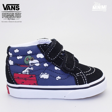 Vans Sk8 Hi-Zip (Peanuts) Flying Ace - baskets enfants du 19 au 26