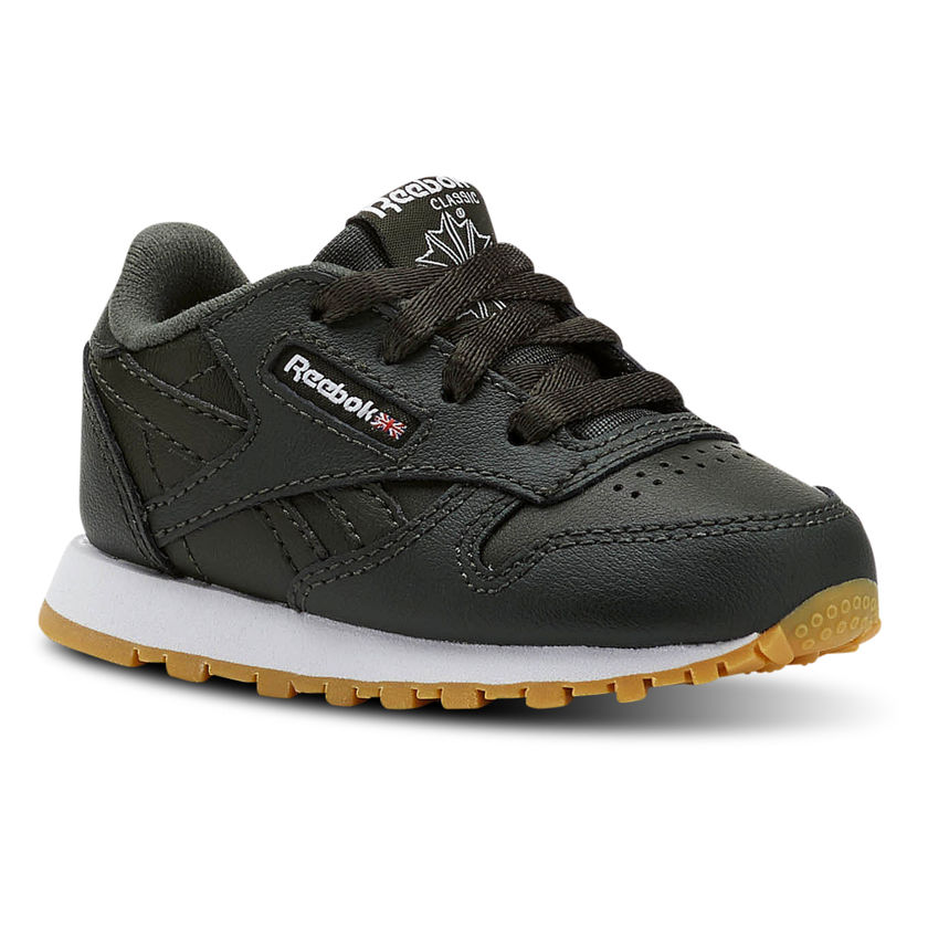 Photo Reebok CL Leather ESTL - Basket enfants du 19 au 26 - Vert foncé