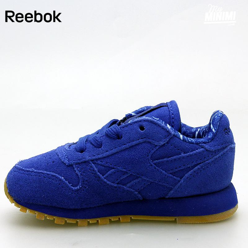 basket reebok enfant bleu