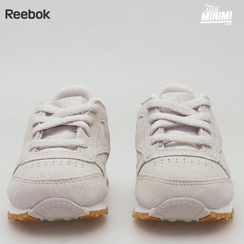reebok leather enfant beige