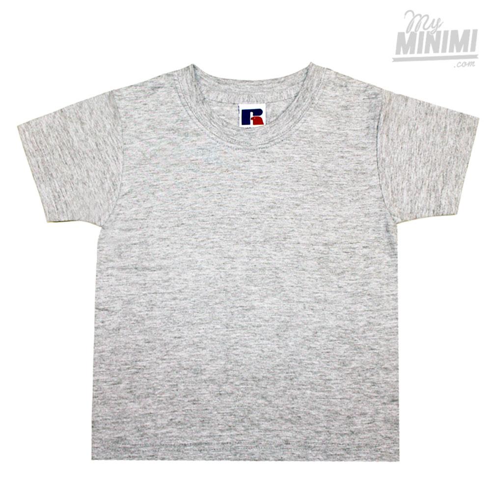 53986999a4249 Russell Athletics Tee Shirt pour enfants de 1 à 12 ans - Gris chiné