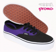 VANS Authentic - Baskets Enfant (youth) - Violet et noir