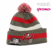 NEW ERA - Kids - Bonnet NFL Pirates Gris et Rouge  2-14 ans