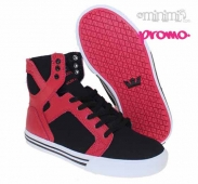 Supra Skytop - baskets enfant (youth) - Noir et Rouge