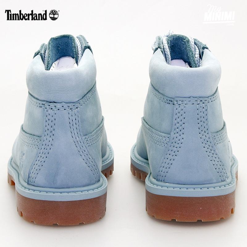 Photo Timberland 6 Inch Premium Boot Chaussures enfant du 20 au 30 bleu clair