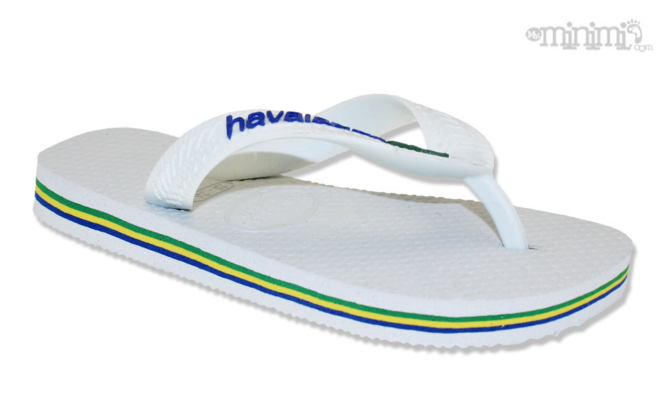 5b0d04d3314 ... Photo Tongs Havaianas enfant - du 25 26 au 35 36 - Blanc