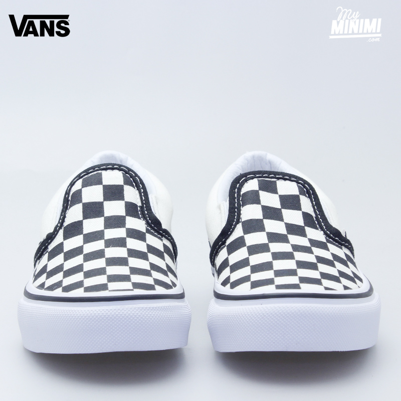 Photo Vans Classic Slip-On -Baskets enfants du 28 au 35-Noir et Blanc