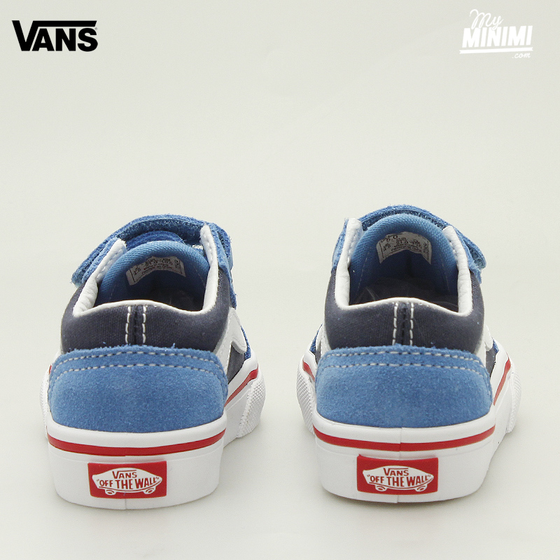 Photo Vans OLD SKOOL V bleu baskets enfants