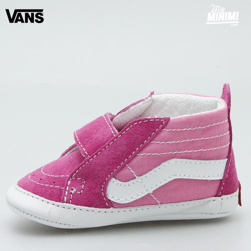 Photo Vans Sk8 Hi chaussons pour bébés Rose